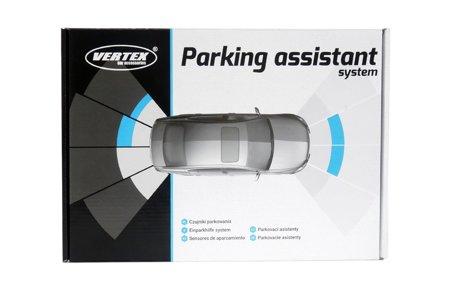 Czujnik parkowania, 8 sensorów czarnych fi 18mm, wyświetlacz z sygnałem dźwiękowym