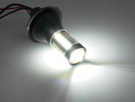 DRL LED 2w1 z kierunkowskazem 66 SMD P21W BA15s