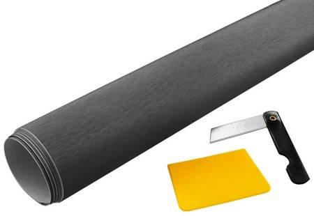 Folia carbon 3D grafit 152x50cm + nożyk i rakla
