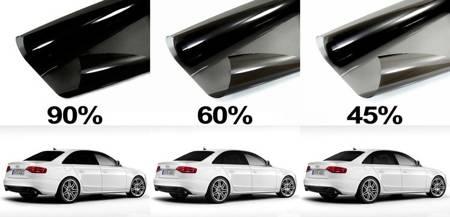 Folia do przyciemniania szyb termokurczliwa - Light Light Black 45% przyciemnienia, 300x50cm