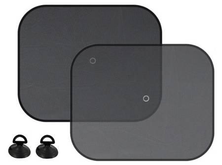 Osłony przeciwsłoneczne na przyssawki, czarne 44x36cm, 2 szt.