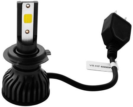 Zestaw żarówek H7 LED 6000K seria V5