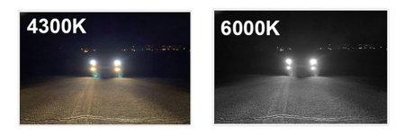 Zestaw żarówek LED H11 6000K Bridgelux